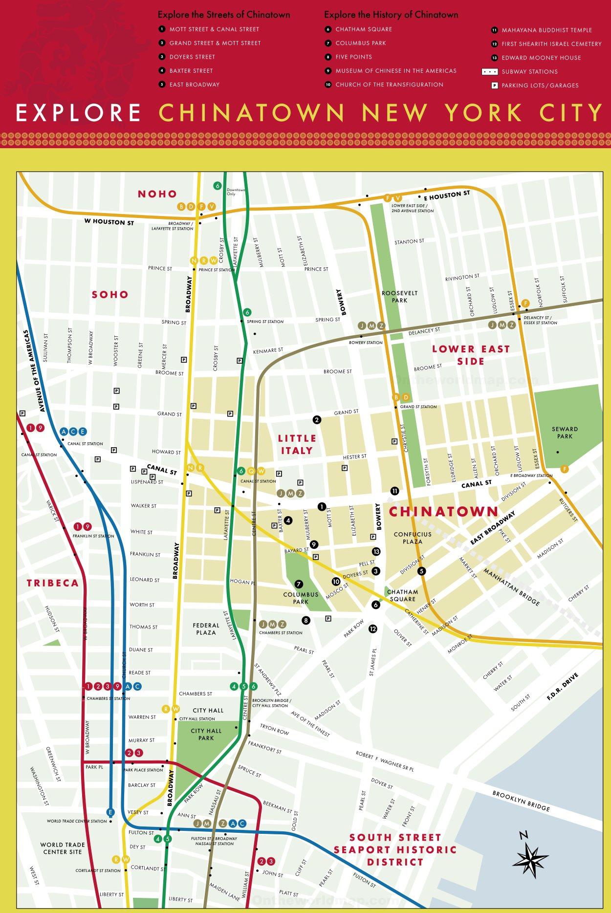 Manhattan Subway Ny Map Printable