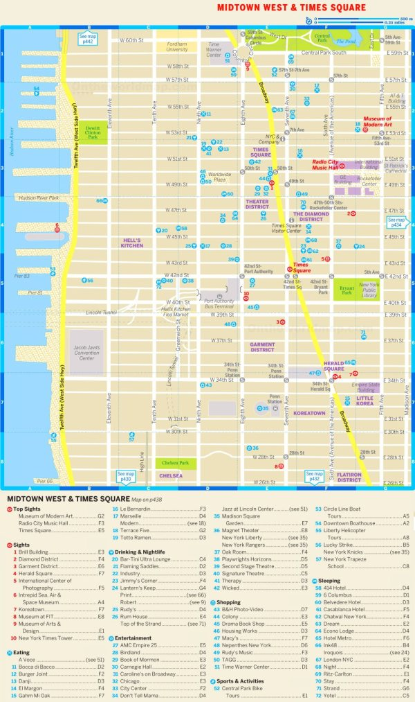 Map of Midtown West and Times Square