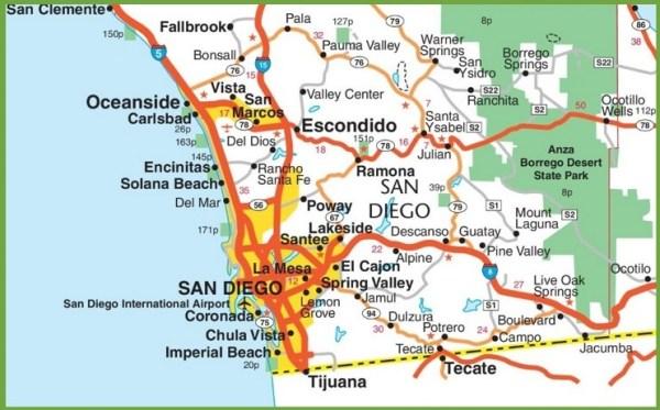 San Diego area map