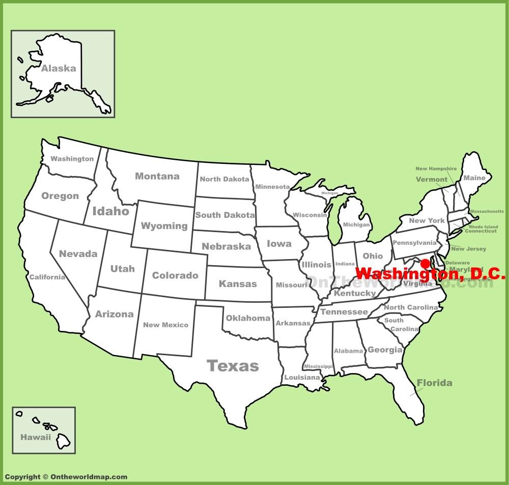 medium resolution of full size washington d c location map