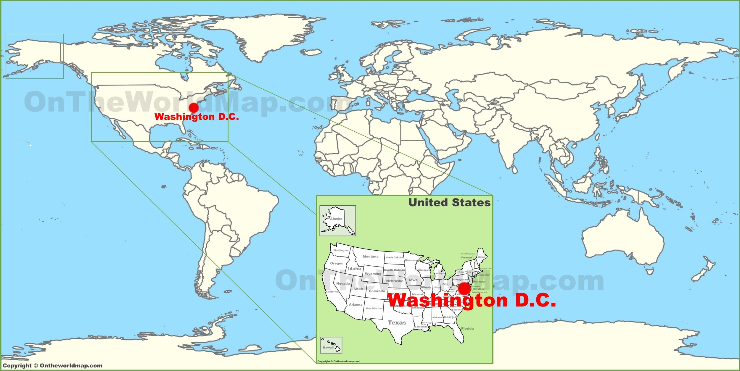 Washington Dc World Map Afp Cv