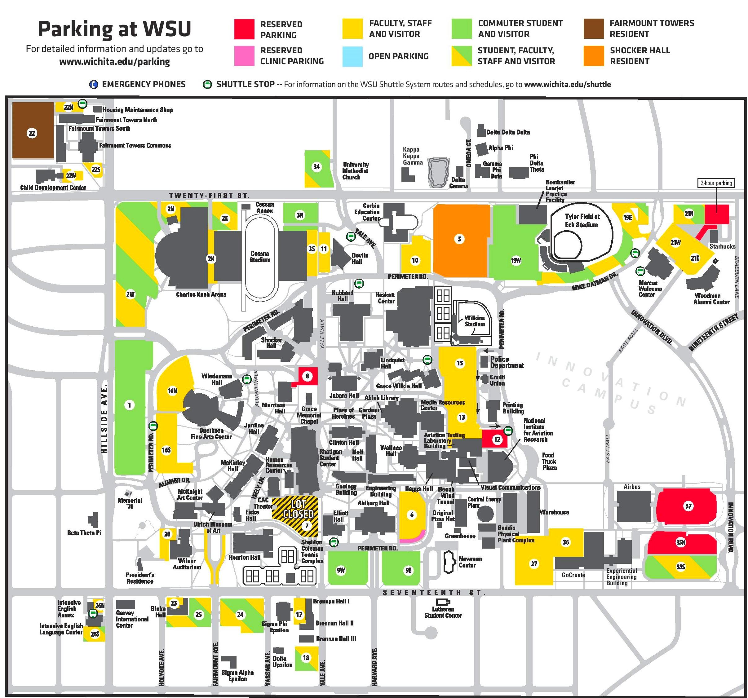 Wichita University Map | www.tollebild.com