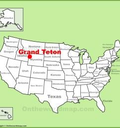 full size grand teton location map [ 1350 x 1287 Pixel ]