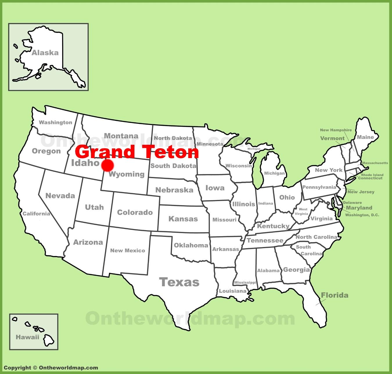 hight resolution of full size grand teton location map