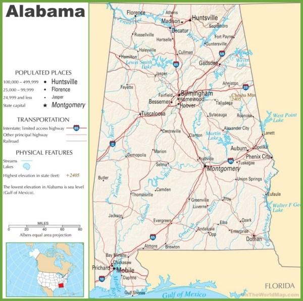 Alabama highway map