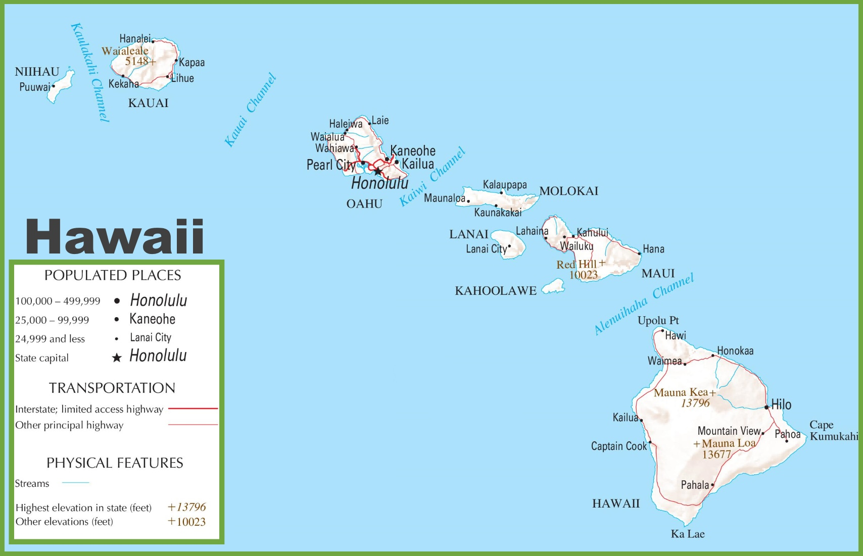 Hawaii Map World Map Image Collections