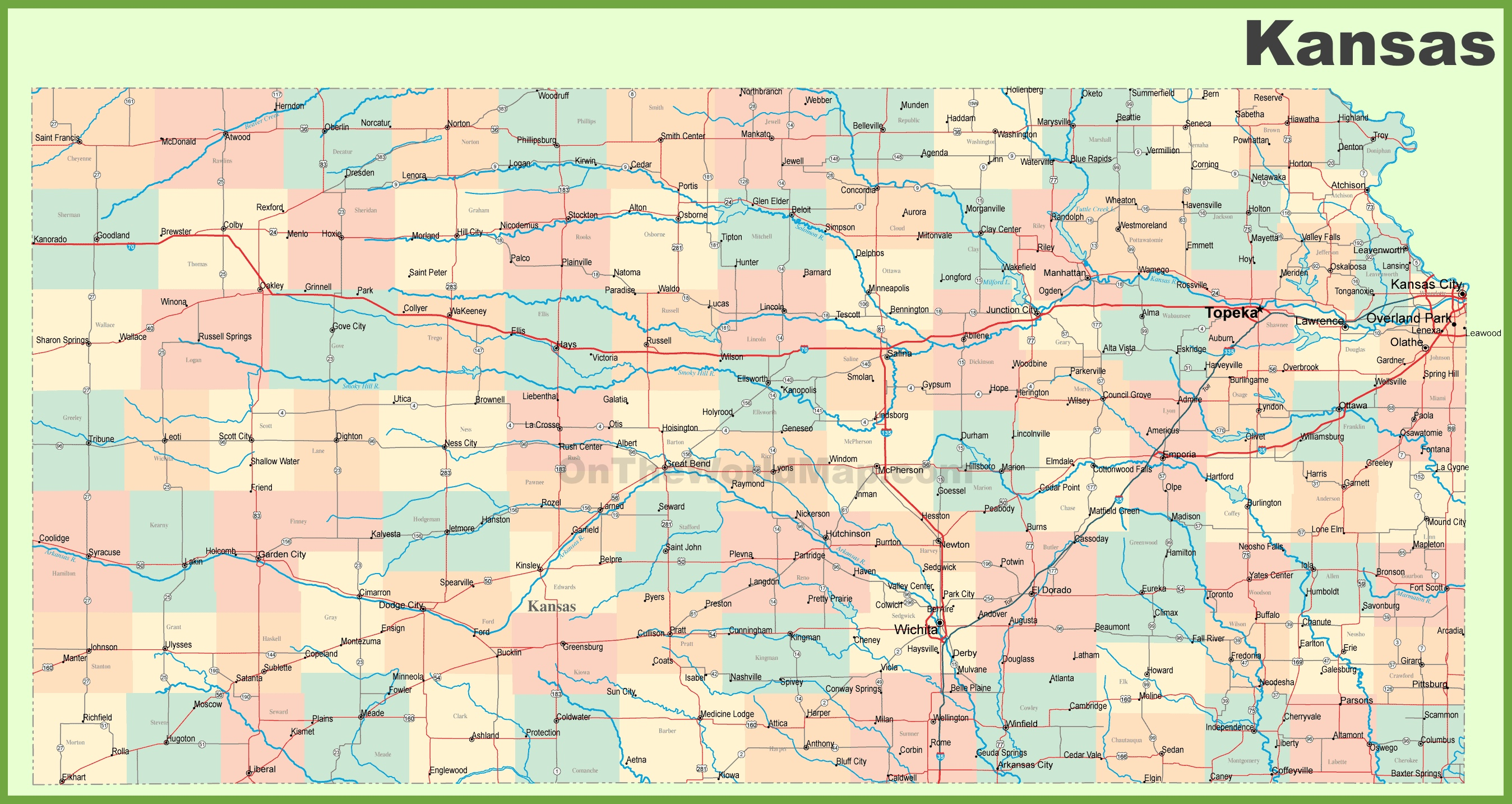 Indianapolis Highway Map
