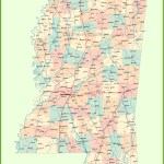 Road Map Of Mississippi With Cities