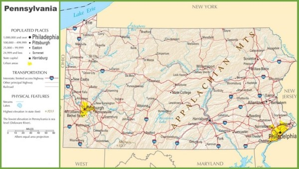 Pennsylvania highway map