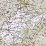 West Virginia Road Map