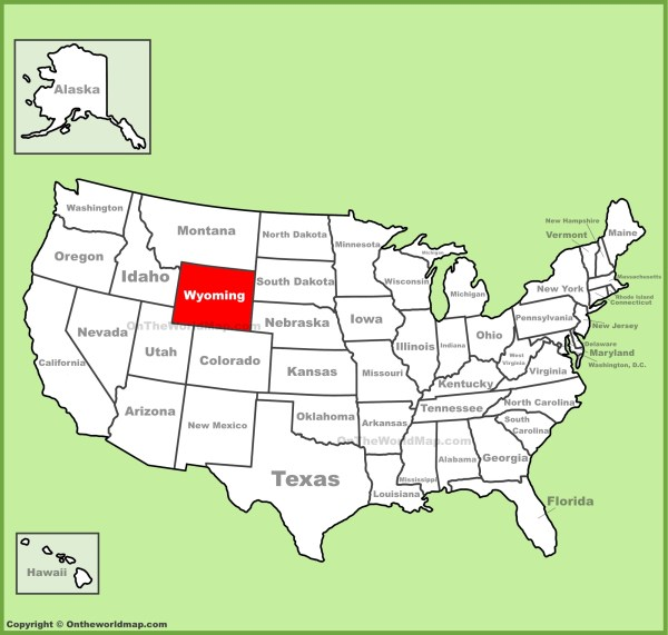 Wyoming location on the US Map