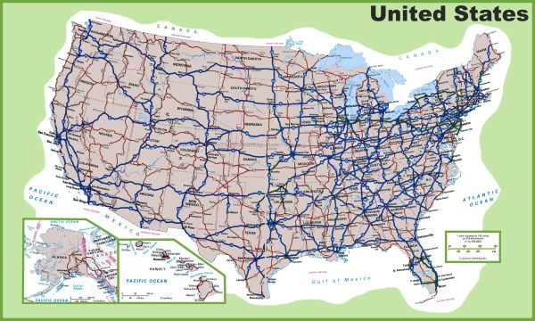 USA road map