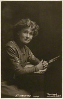 Lena Connell (later Beatrice Cundy) (1875-1949); Emmeline Pankhurst, circa 1907