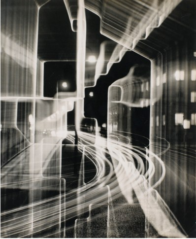 Heinz Hajek-Halke Nächtliche Gross-Stadt Silver print 29,4 x 23,7 cm