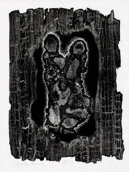 Heinz Hajek-Halke Verbrannte Barmherzigkeit (Scorched Mercy - Lichtgraphik) 1969 · Gelatin silver print 39,8 x 30 cm