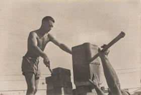 Eric Keast Burke (c.1940) Men at Work (builder's labourers)
