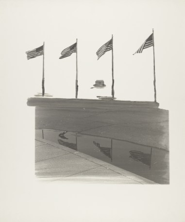 Gerald Incandela, photographer (1977), Lincoln Memorial, Gelatin silver print, 42.5 x 39 cm