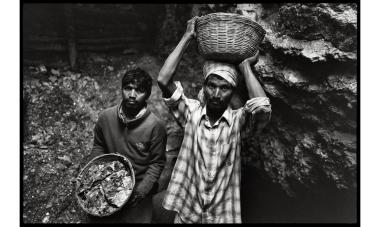 Jamuna Mines, Jharkhand, India Dispossessed ot their land by the Indian state, the Aborigines of the Koderma district are forced to work clandestinely in the mica mines to survive