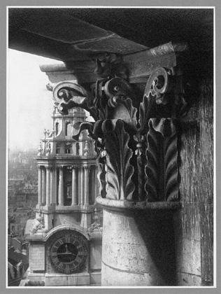 Helmut Gernsheim (n.d., 1940s) St. Pauls Cathedral southwest tower, silver gelatin print 21.1 x 15.6cm