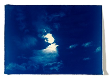 Atlas Cyanotype on clouds Fabriano 42 cm x 60 cm