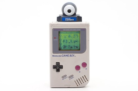 Game Boy camera attached