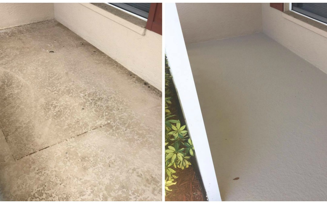Pool deck and front porch restoration, Parrish Florida