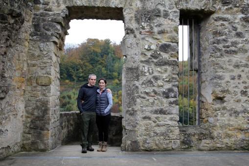 In the ruins of Larochette castle