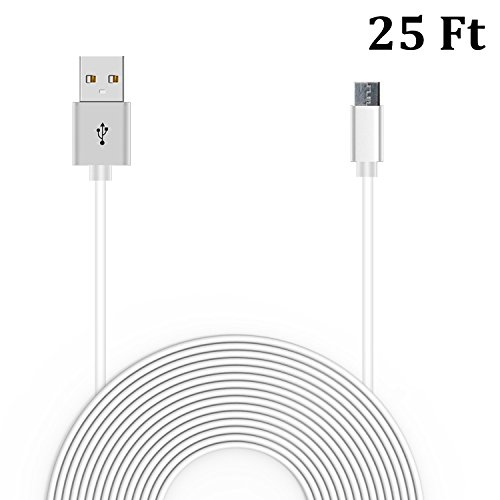 20 Ft Power Cable for WyzeCam, Amazon Cloud Cam, YI Dome