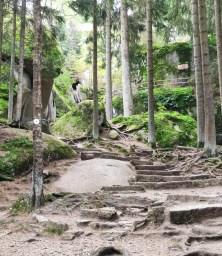 Felsenlabyrinth Luisenburg der Weg