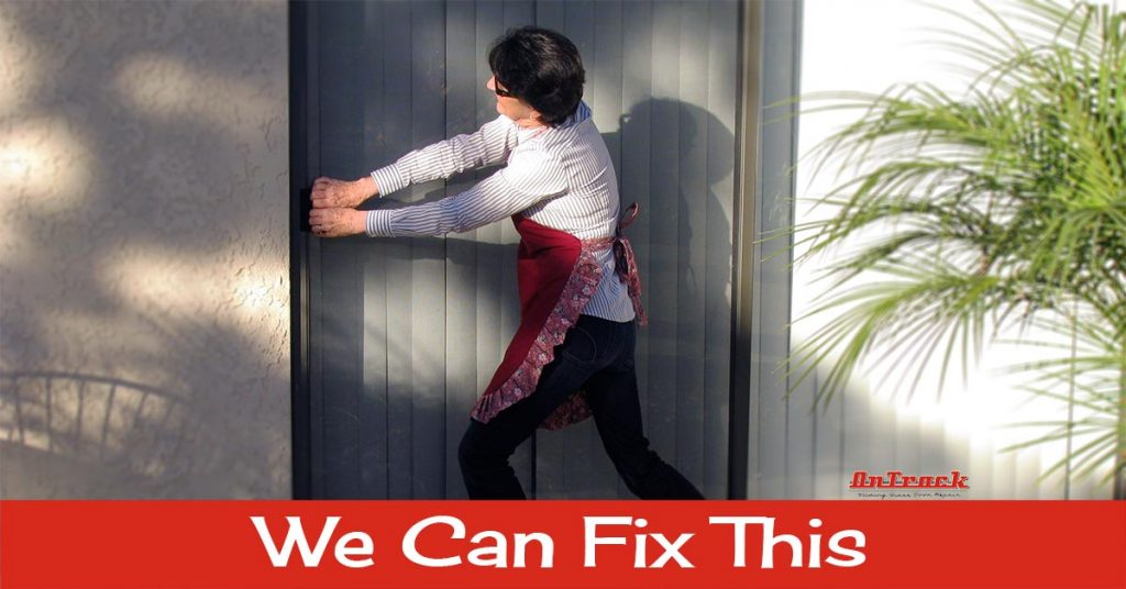 on track sliding door repair