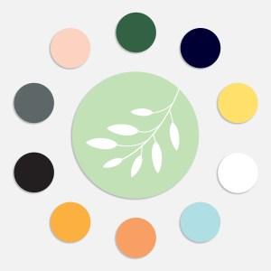 Een sluitzegel maakt je geboortekaartje af en het totaalplaatje compleet. Botansiche sluitzegel in meerdere kleuren.