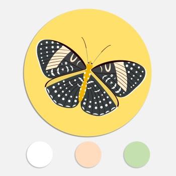 Een sticker voor een geboortekaartje maakt het totaalplaatje compleet. Deze sluitzegel past bij het geboortekaartje vlinder.