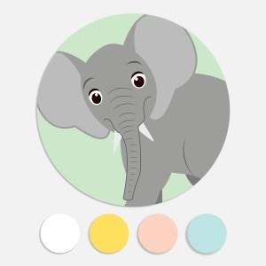 Een sticker voor een geboortekaartje maakt het totaalplaatje compleet. Deze sluitzegel past bij het geboortekaartje olifant.