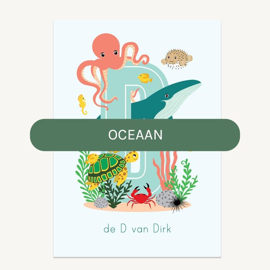 persoonlijke poster zeedieren kind