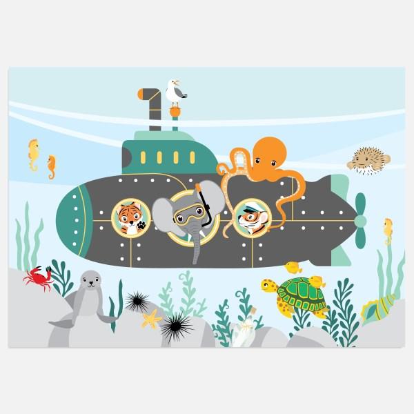duikboot oceaan a3 a4 ontwerp door lindy