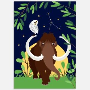 sterrenbeeld poster kreeft ontwerp door lindy