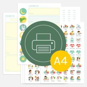 weekplanner dagplanner totaal kind ontwerp door lindy download print a4