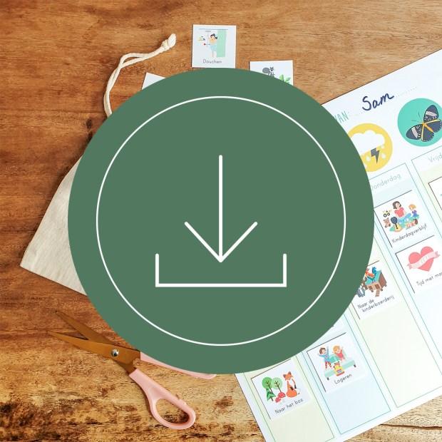 weekplanner dagplanner totaal kind routine ontwerp door lindy download compleet