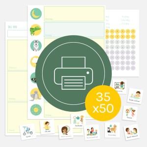 weekplanner dagplanner totaal kind ontwerp door lindy download print 35x50
