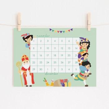 sint aftellen aftelkalender sinterklaas december ontwerp door lindy 2021