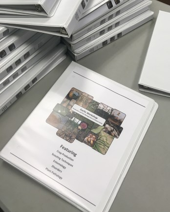 Garlic Production and Pest Management Workshop Binder