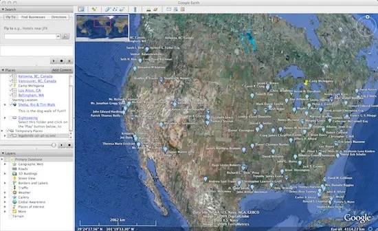 Justia LegalBirds.com Google Earth