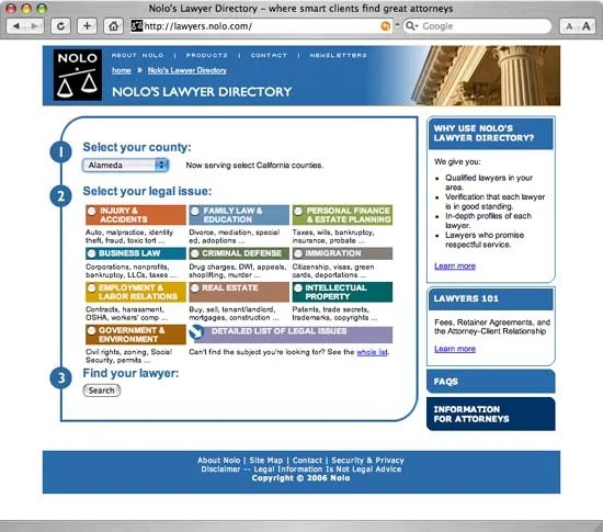 Nolo Lawyer Directory