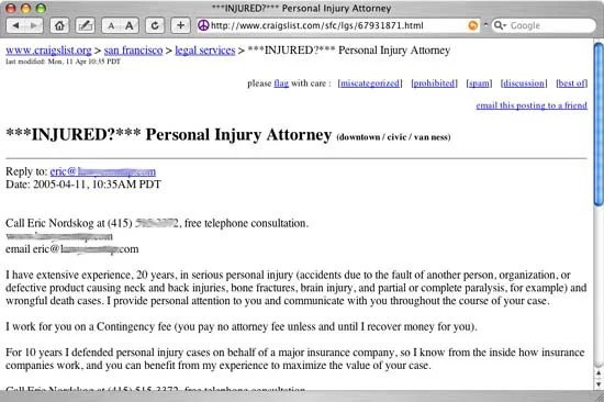 Using craigslist for Marketing Your Law Firm's Legal