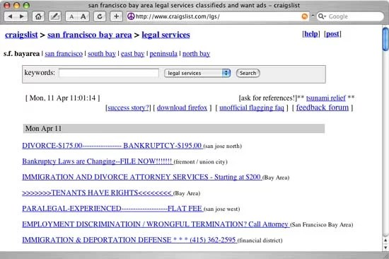craigslist - services - legal