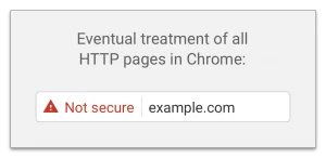 Example of what Chrome will eventually show when viewing HTTP pages