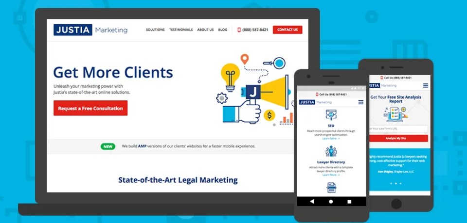 Justia Launches New Marketing Website