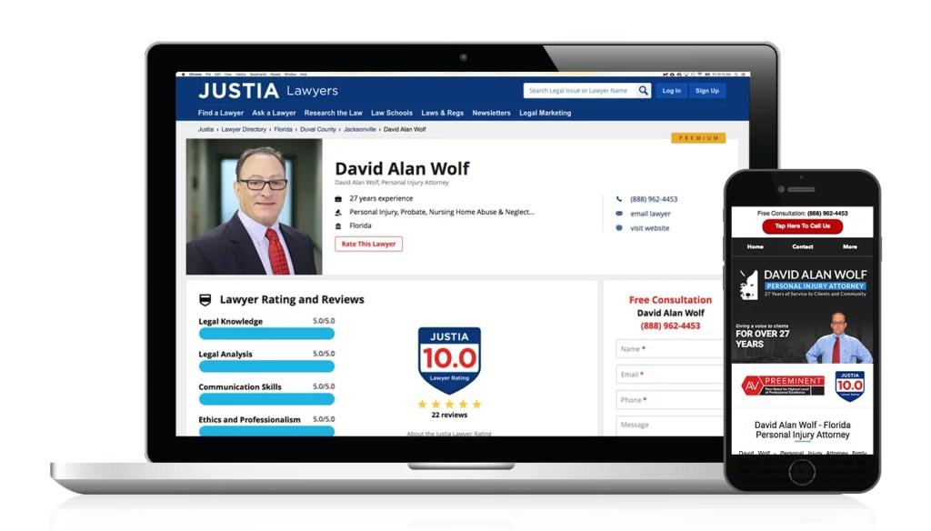 Justia Rating and Reviews