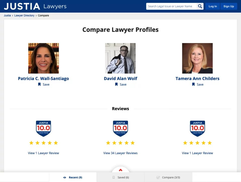Compare Lawyers Tool
