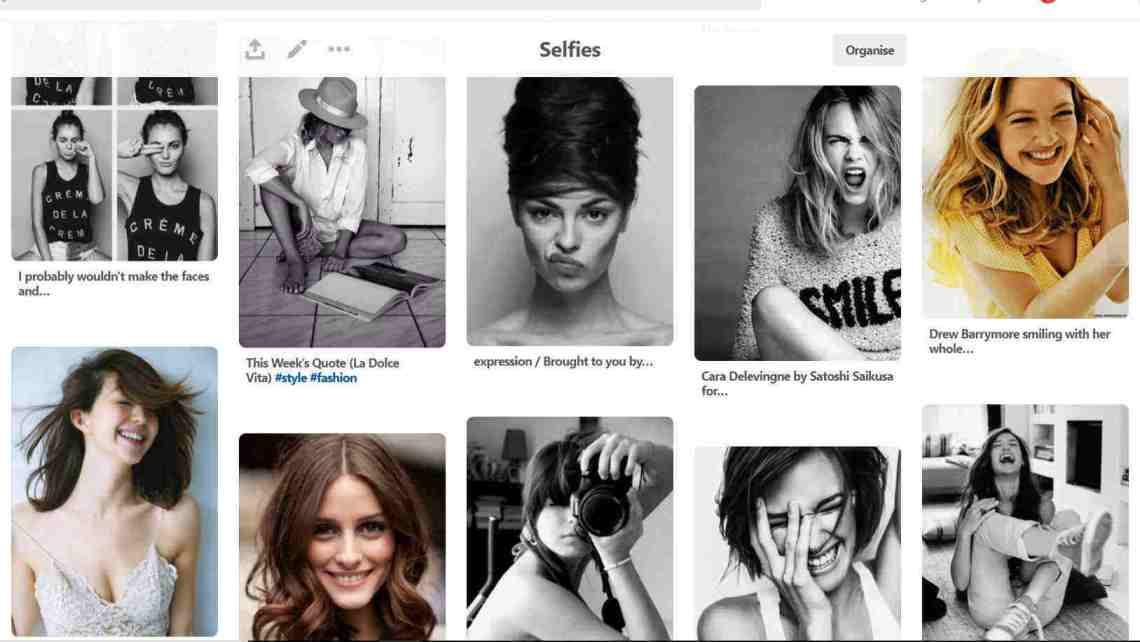 Onwards and Up Selfie Pinterest Mood board